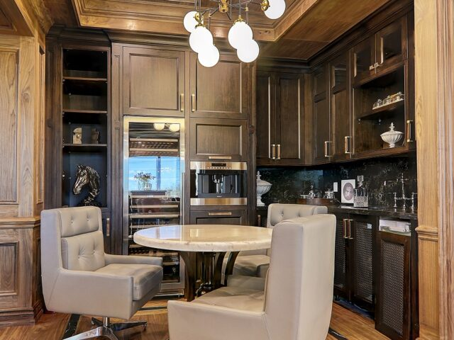 amazing small kitchen in custom office - Home renovation project