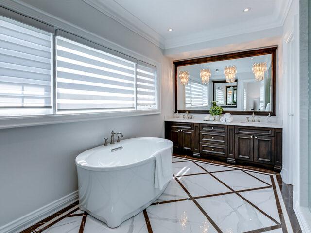 custom bathroom with freestanding bathtub - Custom Home project toronto