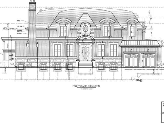 Exterior Renovation of Custom Home Blueprint Project