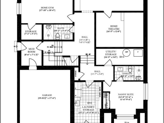 Custom Home Interior Blueprint