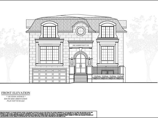 Blueprint of Custom Home Exterior