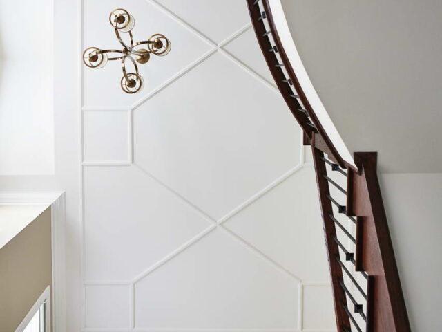 Luxury Ceiling Decor in Custom Hallway - Complete Home Renovation