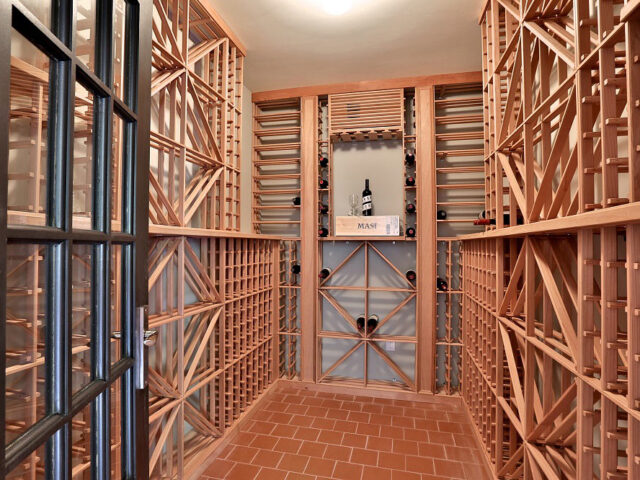 amazing custom wine cellar - custom home builders Toronto