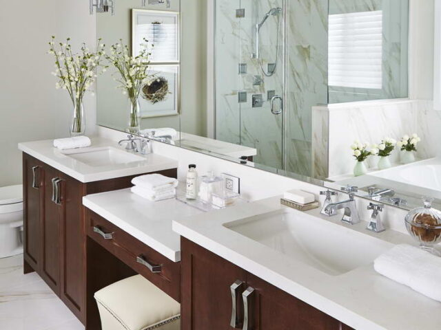 Master Bathroom with Two Vanity - Custom Homes Toronto