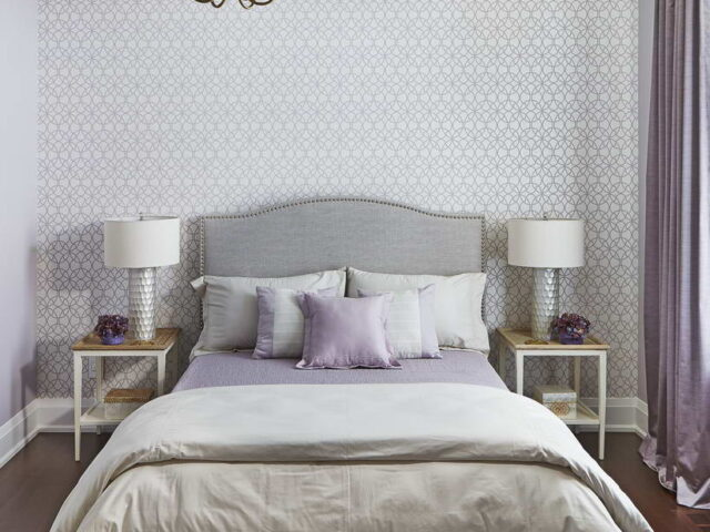 Amazing Bedroom with Wallpaper Decor - Home Renovation