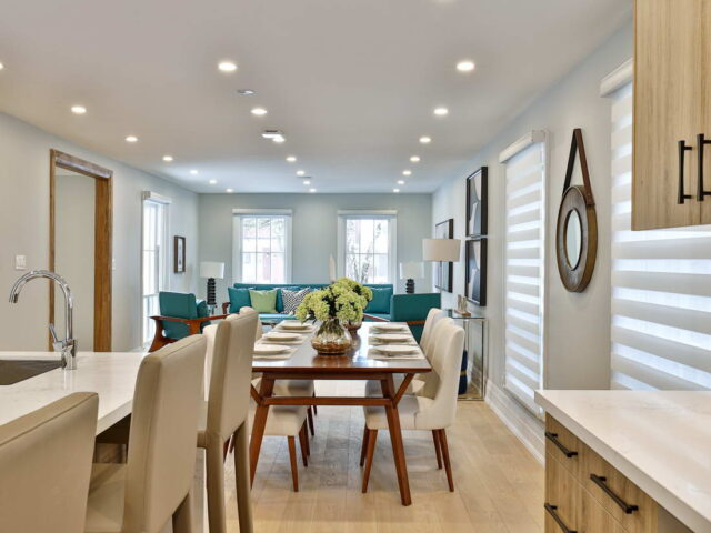 luxury dining room in amazing custom home by torino construction