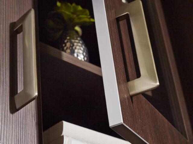 Custom Office Cabinets in Custom Home
