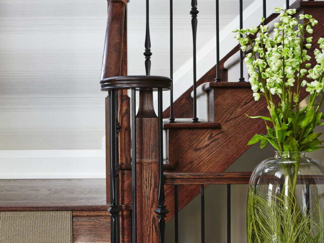 Wooden Staircase in Custom Hallway - Home Renovations