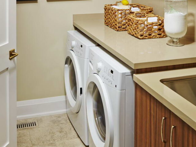 Small Laundry Room Room in Home Renovation Project