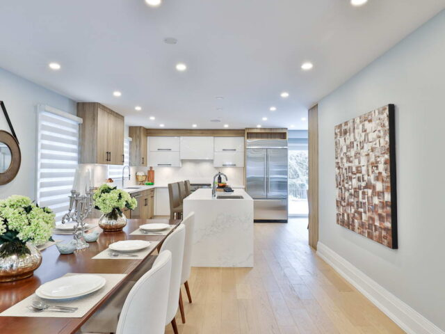 custom dining room and kitchen build by torino construction