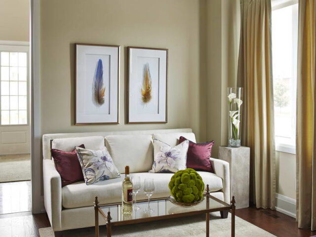 Classic Sitting Area in Home Renovation Project Toronto
