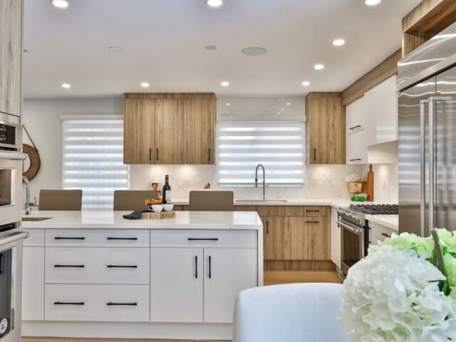 modern kitchen cabinets with backlit - custom home contractor torino construction