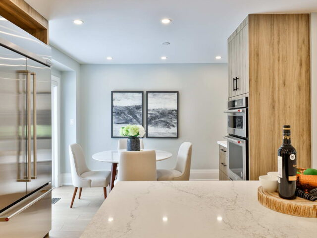 build in appliances in custom kitchen by torino construction