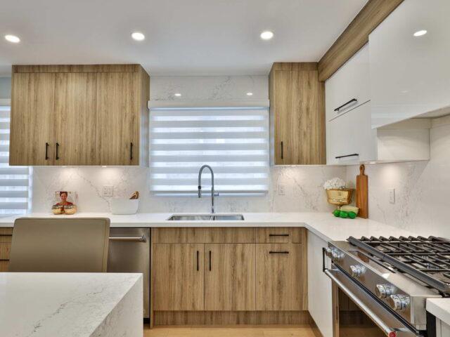 custom backlit kitchen cabinets - custom home builders