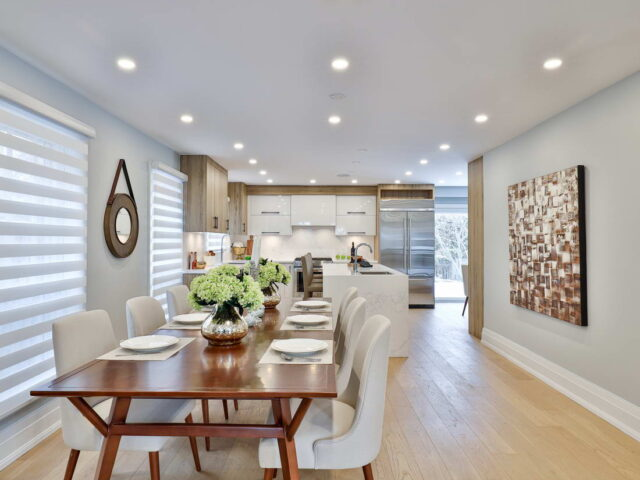 classic dining room in custom home by torino construction