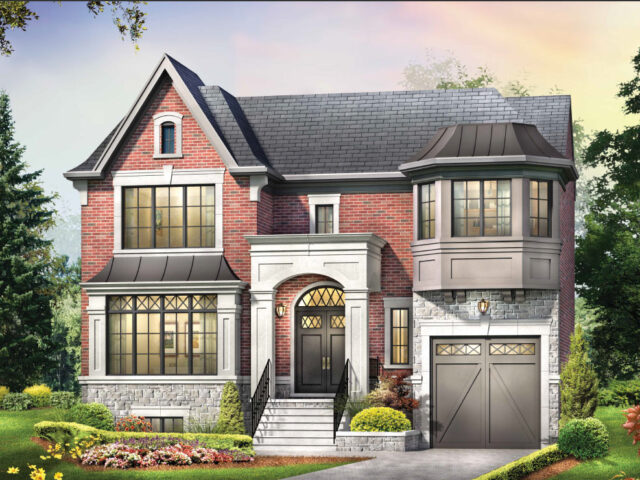 3D render of future custom home project by Torino construction